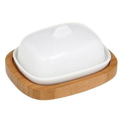 White Bamboo Mini Butter Dish JD25925