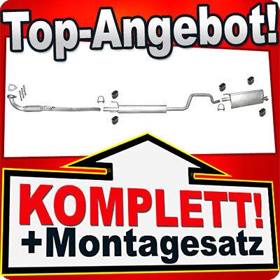 Auspuff Opel Vectra C 1.6i  Mittelschalldämpfer+MONTAGEWARE