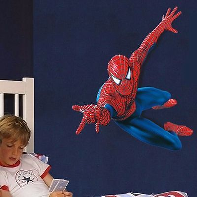 US Stock Superhero Spiderman Mural Wall Decal Sticker Kid Nursery Room Decor - Spiderman Wall Decal