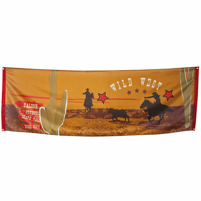 Banner Wilder Westen, 74x220 cm tolle Dekoration für Motto Partys (Western Motto-party Dekorationen)