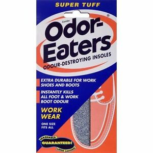 Odor Eaters Super Tuff Shoe Odour Washable Work Wear Insoles