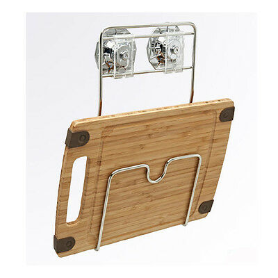 New Stainless Wire Cutting Board Suction Hanger Kitchen Sink Rack