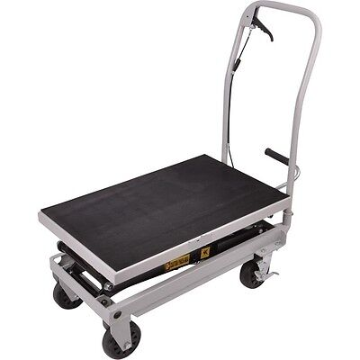 Rolling Table Cart 500 Lb Capacity Heavy Duty Hydraulic Cart Wfoot Pump Dolly