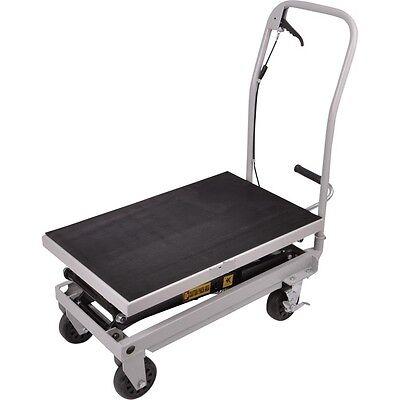 Rolling Table Cart 1000 Lb Capacity Heavy Duty Hydraulic Cart Wfoot Pump Dolly