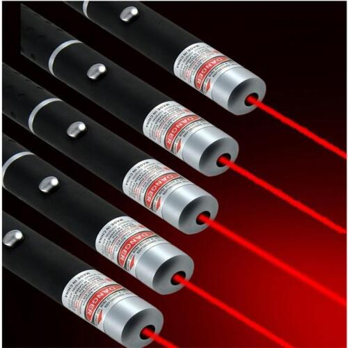 5PC 10Miles Red Laser Pointer Pen 650nm Pet Toy Powerful Visible Beam Xmas Lazer