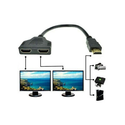 4K HDMI Cable Splitter Adapter 2.0 Converter 1 In 2 Out 1 Male to 2 Female