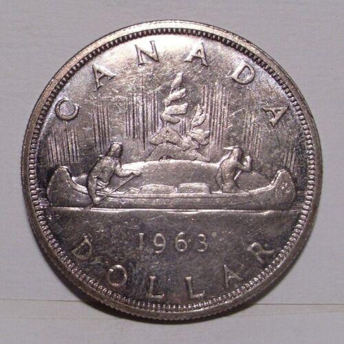 1963 Canada 80% Silver Dollar , Toned BU PL