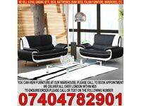 BRAND NEW Italian PU Leather 3 and 2 Seater Sofa Suite