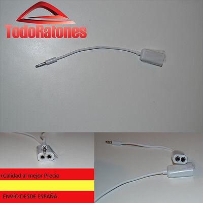 Cable adaptador duplicador Jack Estereo para apple, iphone, samsung, xiaomi THL
