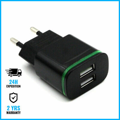 Qualcomm Quick Charge 3 Dual 2x USB Wall Charger Chargeur Prise Adapter Black
