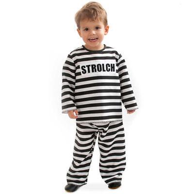 Sträflingskostüm Kleinkind, Gefangenenkostüm Gefängnis Verkleidung - Kleinkind Sträfling Kostüm