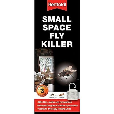 2x Hanging Small Space Fly Killer- Rentokil Flies Moth Mosquito
