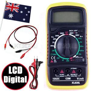LCD Digital Multimeter  handheld , AC DC Voltmeter Ohmmeter Multi Tester