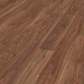X13 PACKS CLASSIC WALNUT 7MM LAMINATE FLOORING + UNDERLAY + BEEDING