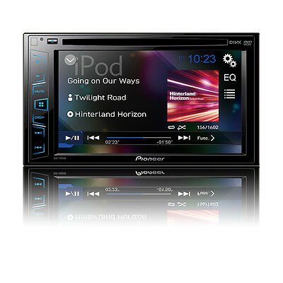 NEW Pioneer Double 2 Din AVH-190DVD DVD/MP3/CD Player 6.2