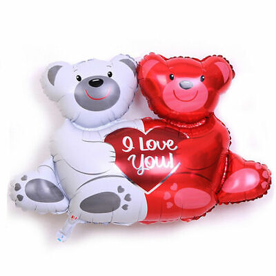Hugging Bears foil balloon i love you red white Mini Large