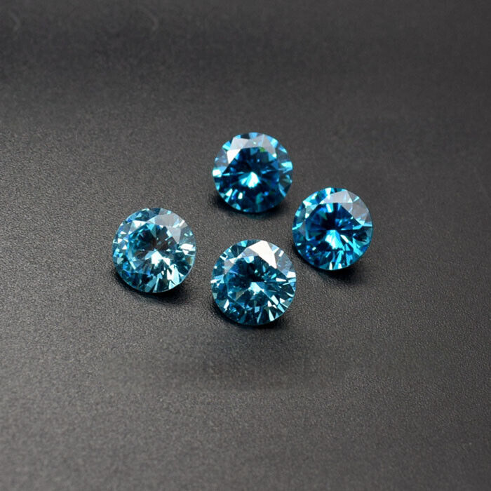 Natural Round Sea Blue Sapphire Faceted Cut VVS Loose Gemstone 6mm-16mm