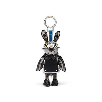 MCM Rabbit Key ring Coated Canvas Material MZZ6AXL08SV Silver Color