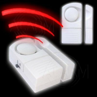 2 x Tür- und Fensteralarm ALARMANLAGE Türalarm Sirene Alarm Hausalarm Sicherheit