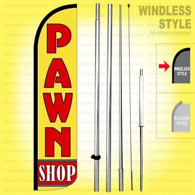 Pawn - Windless Swooper Flag Kit 15 Tall Feather Banner Shop Sign Yz-h