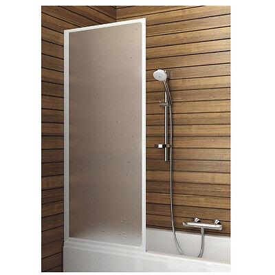 Badewannenfaltwand Duschtrennwand Duschabtrennung Duschkabine 1-Teil Weiß BWF1