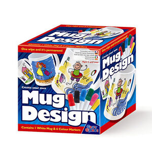 Create your own mug design set childrens paint mug with for Craft smart paint pen on mugs