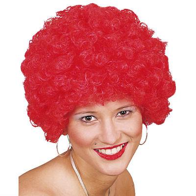 Afroperücke rot, Karnevalsperücke Locken Clownskostüm Perücke Kostüm Zubehör
