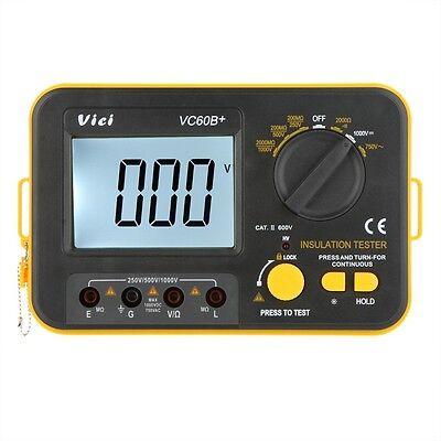 New Vc60b Digital Insulation Resistance Tester Megger Megohmmeter Meter