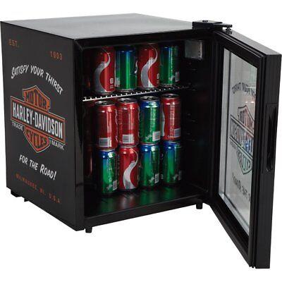 Harley-Davidson Logo Emblem Bar Refrigerator 1.8 cbft. Beverage Cooler Black NEW