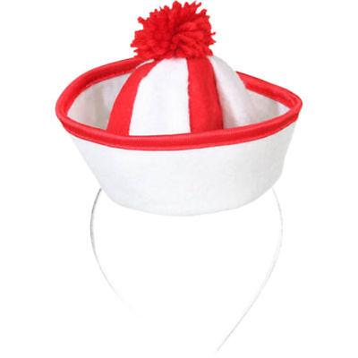 Hut Mini Matrose, rot/weiß Matrosenhut Matrosenmütze   ()