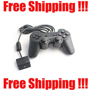 NEW PS2 CONTROLLER FOR SONY PLAYSTATION 2 WIRED BLACK GAME PAD FREE SHIPPING!