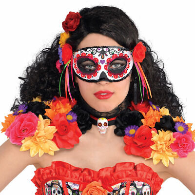 Augenmaske Tag der Toten mit tollem traditionellen Muster, ideal für Halloween