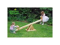 Wayfair Wooden See-Saw. LIKE NEW 3 MONTHS OLD