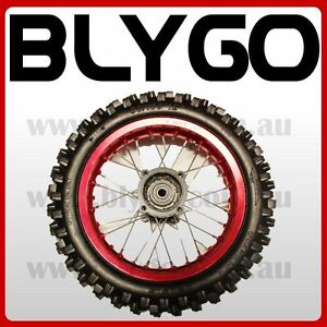 RED-15mm-Axle-3-00-12-Inch-Rear-Wheel-Rim-Knobby-Tyre-Tire-PIT-PRO-Dirt-Bike