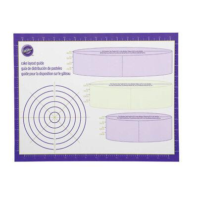 - Wilton # 2546 Decorator Work Mat Cake Layout Guide Fondant Gum Paste Decorations