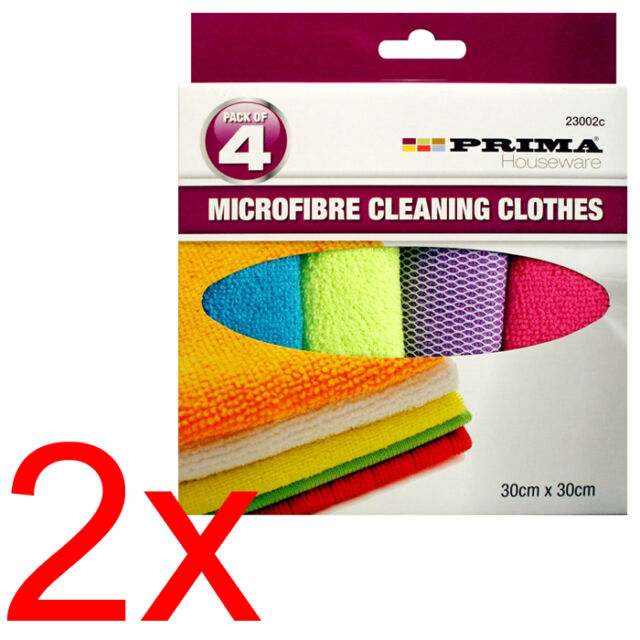 8 X MICROFIBRE CLEANING SOFT CLOTHS TOWEL AUTO CAR DETAILING DUSTER WASH NEW