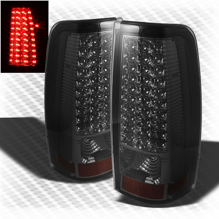 Smoked 99 02 Chevy Silverado 99 03 Sierra LED Smoke Tail Lights Lamp Pair Set