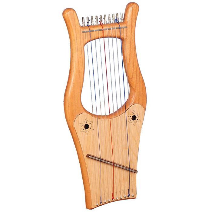 Muzikkon Ireland Kinnor Harp, 10 String Large Kinnor Harp, King David Harp