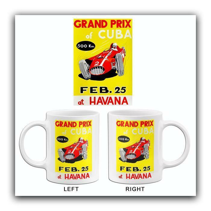 1957 Grand Prix Of Cuba Automobile Race - Havana - Promotional Advertising Mug