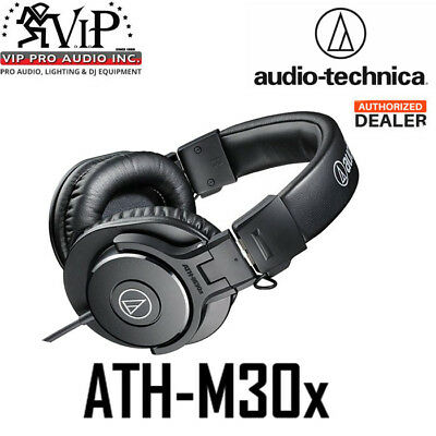 Audio-Technica ATH-M30x Professional Monitor Headphones Over the Ear Headphones Audio Technica White Headphone
