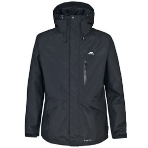 RRP £55! TRESPASS NEW MENS CORVO LIGHTWEIGHT BREATHABLE WATERPROOF COAT / JACKET