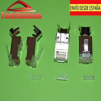 1x RJ45 conetores para cable de red categoria 6 categoria 7 cat6...