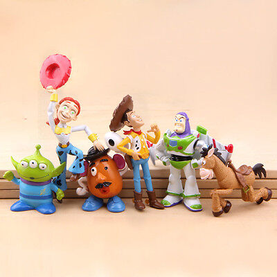 6pcs Toy Story Figures Woody Jessie Alien Buzz Lightyear Bullseye Potato Toy - Woody Lightyear