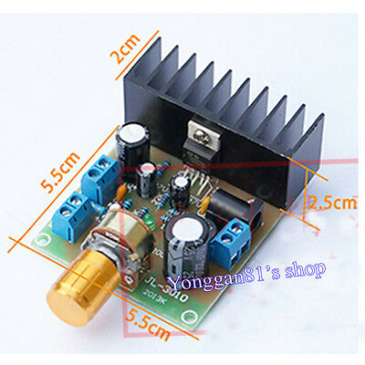 TDA2030A Mono 15W Audio Power Amplifier Board AC/DC 12V Assembled