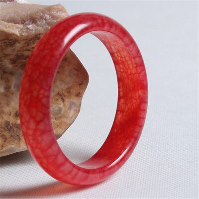 Blood Jade Bracelet (Fashion Unique natural Rare blood stone hand-carved Red jade bracelet )