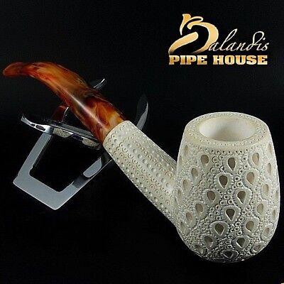 "Original Mr.Reis Handmade Meerschaum Smoking Pipe ""Bird Eyes"" Big bowl 58mm"