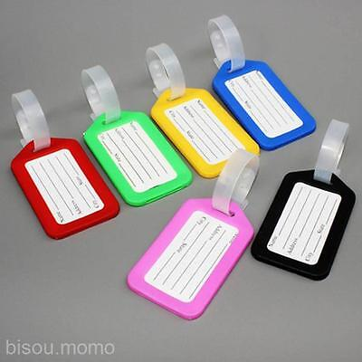 10X Travel Luggage Bag Tag Name Address ID Label Plastic Suitcase Baggage Tags