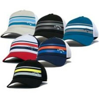 Callaway Golf Mesh Fitted Striped Hat Cap All Colors and Sizes Choose S/M L/XL