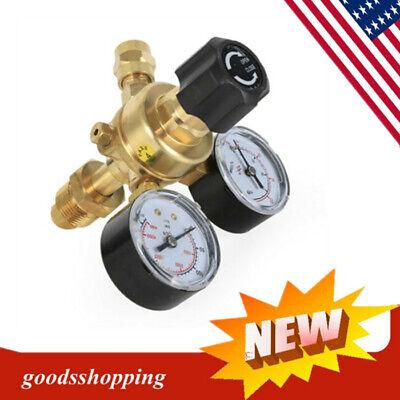 New Argonco2 Gas Bottle Cylinder Mig Tig Pressure Regulator Welder Twin Gauge