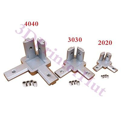 4pcs 2020 Aluminum Profile 3 way 90 deg inside corner bracket Interior Connector